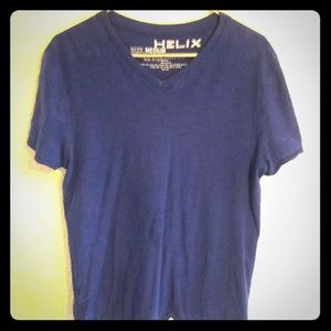 Helix - royal blue v-neck